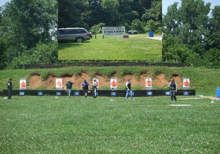Figure 1: Location of Outdoor Firearms Shooting Range for Police Officers in Southcentral Kentucky