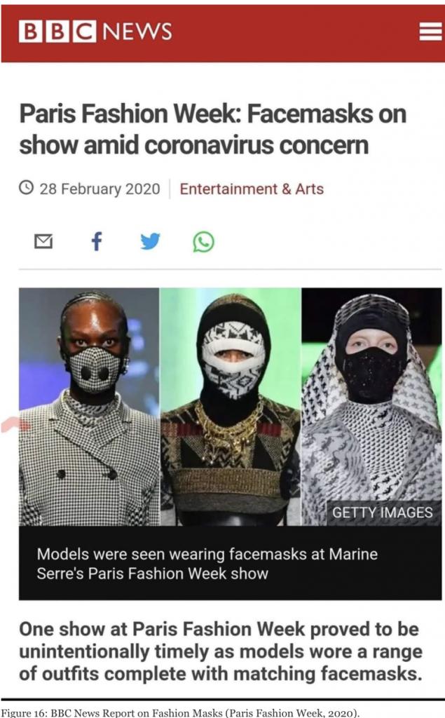 Figure 16: BBC News Report on Fashion Masks