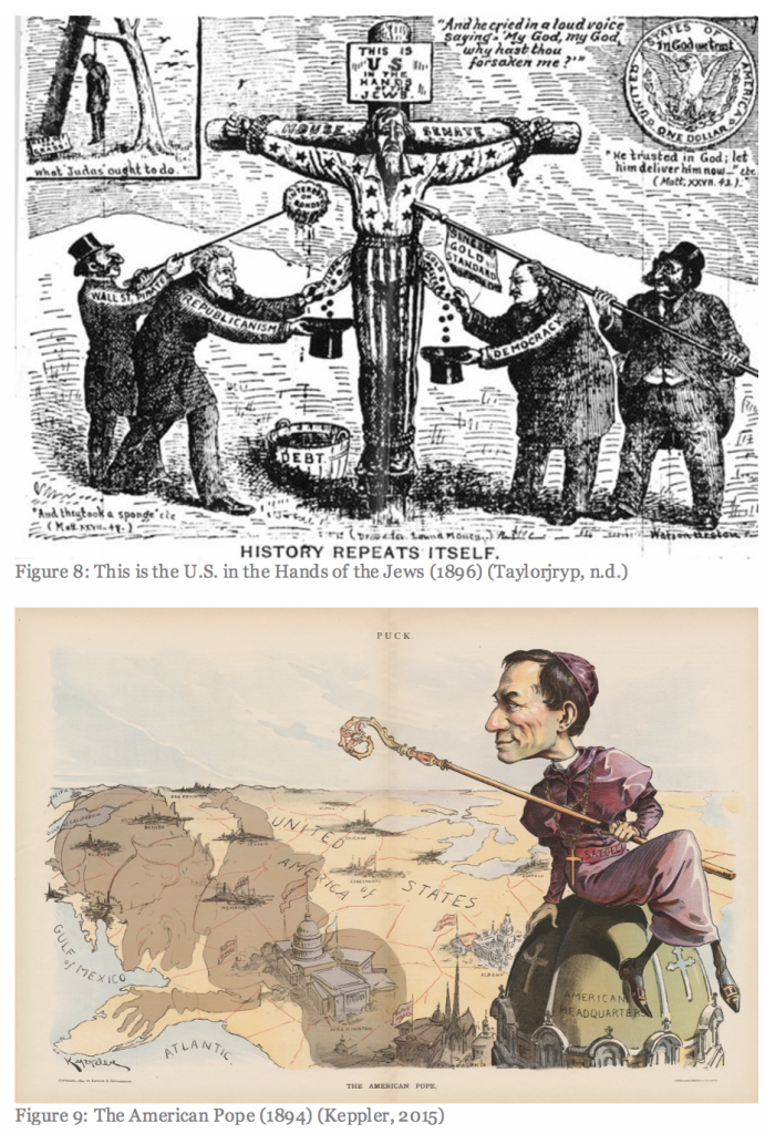 Figure 8: This is the U.S. in the Hands of Jews; Figure 9: The American Pope