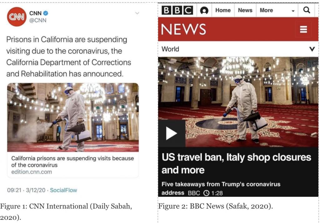 Figure 1: CNN International (Daily Sabah, 2020); Figure 2: BBC News (Safak, 2020).
