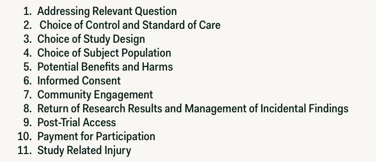 Figure 1 Eleven Ethics Essential Elements